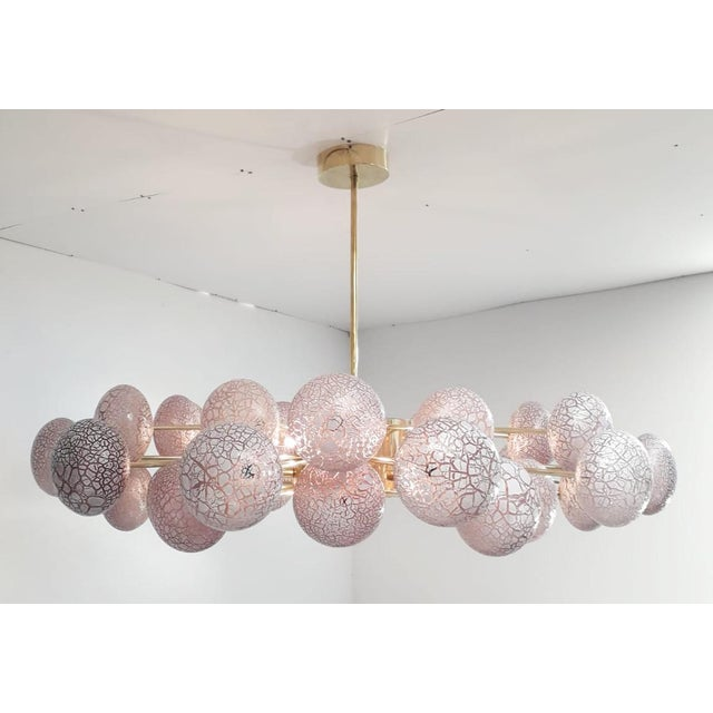 Not Yet Made - Made To Order Crackled Globes Chandelier by Fabio Ltd For Sale - Image 5 of 9