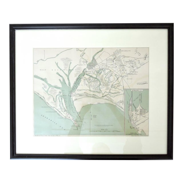 Historical Map of Kurrachee 1888 by A. Simon For Sale