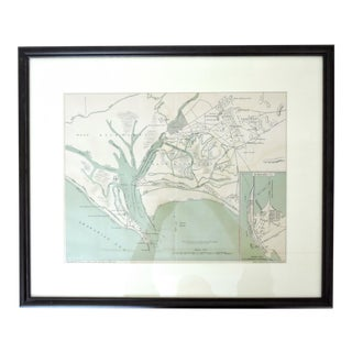 Late 19th. Century Historical Map of Kurrachee 1888 by A. Simon For Sale