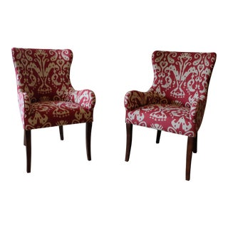 Lee Ikat Armchairs - a Pair Floor Sample For Sale