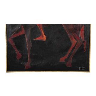 Ritratto DI Uomo Antico a Cavallo Painting by Giuseppe Gambino For Sale