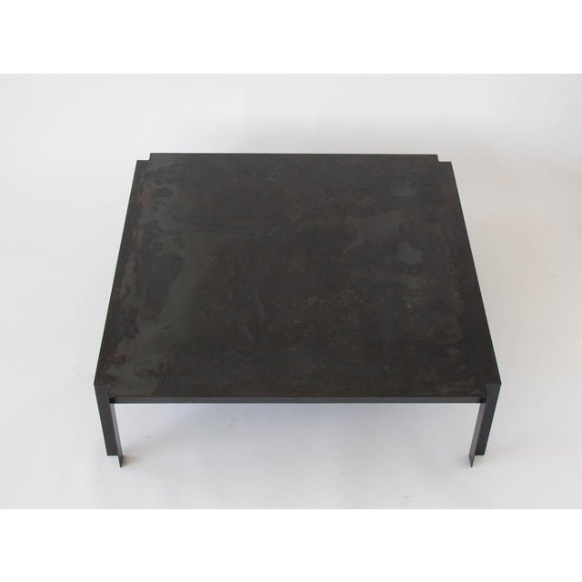 California-Designed Modernist Square Coffee Table - Image 4 of 8