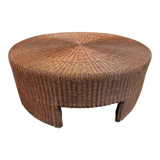 Hickory Chair Company Wicker Coffee Table For Sale