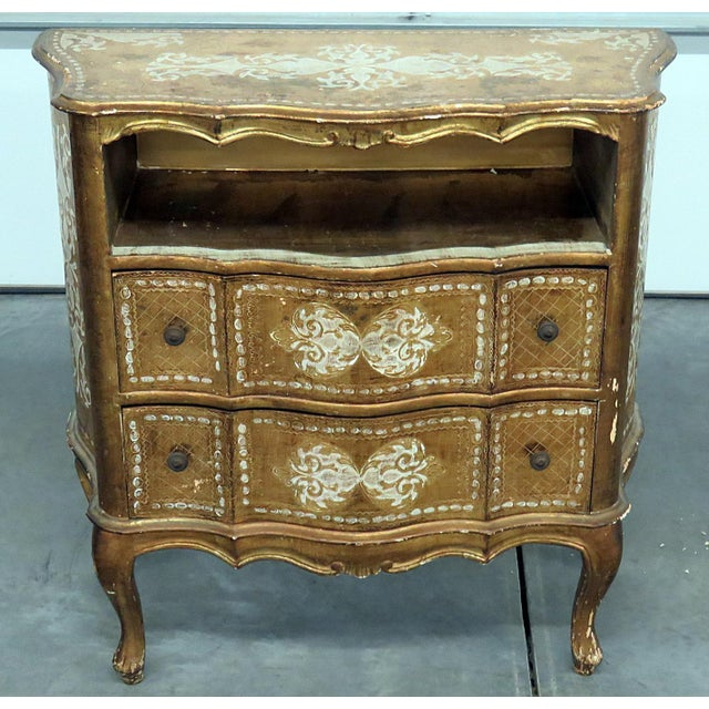 Early 20th Century Vintage Florentine Distressed Painted Commode For Sale - Image 5 of 5