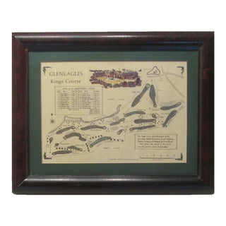 Vintage Print of Scottish Gleneagles King's Course For Sale