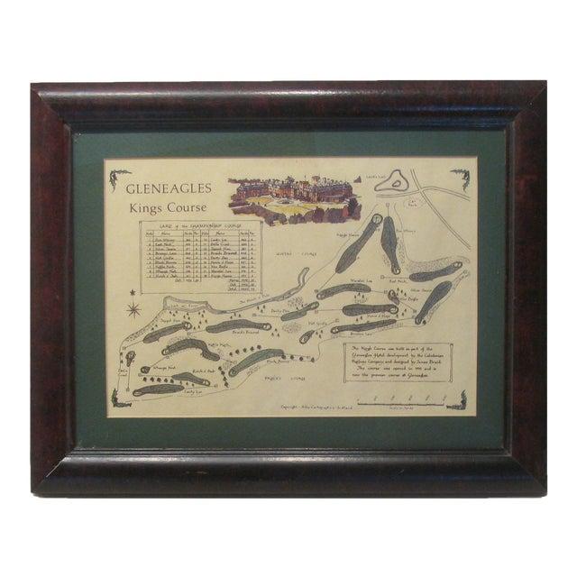 Vintage Print of Scottish Gleneagles King's Course For Sale
