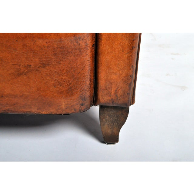 Art Deco Leather Club Chair - Image 10 of 11