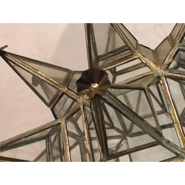 Pair of Sputnik Star Light Fixtures Lead Glass Art Deco Style Not Wired For Sale - Image 12 of 13