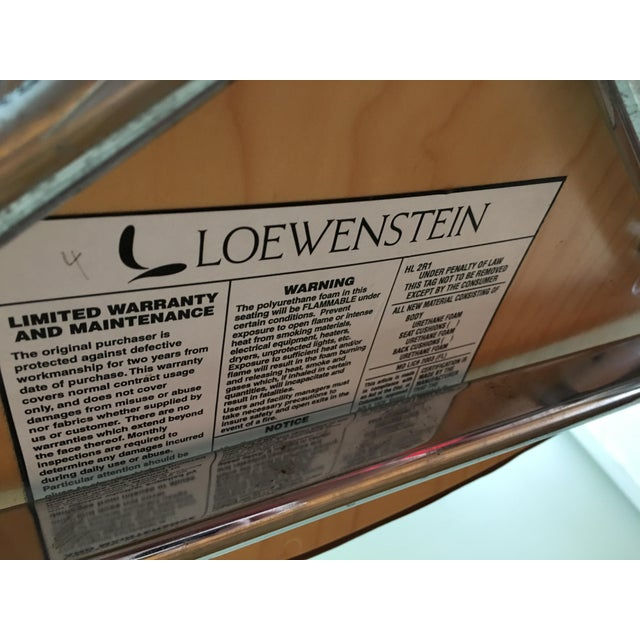 Brown Boho Chic Loewenstein Leather Office Chair For Sale - Image 8 of 9