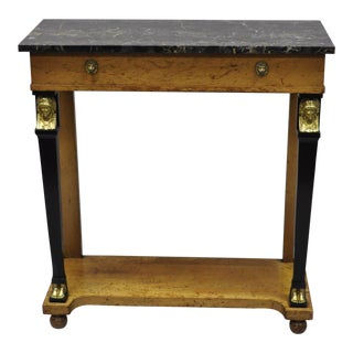 20th Century French Empire Small Figural Console Table For Sale