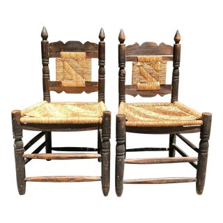 1960s Vintage Hacienda Chairs - A Pair For Sale