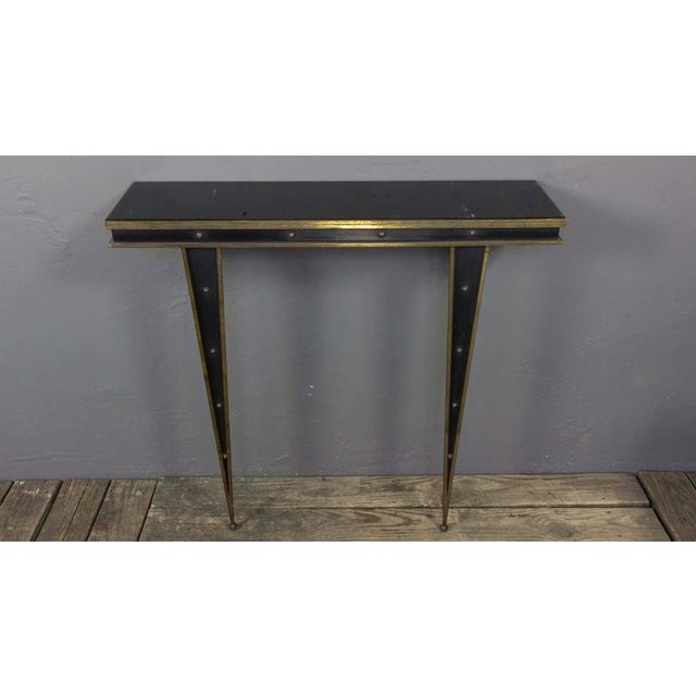Mid-Century Italian Console and Mirror by Charles PiGuet For Sale - Image 4 of 11