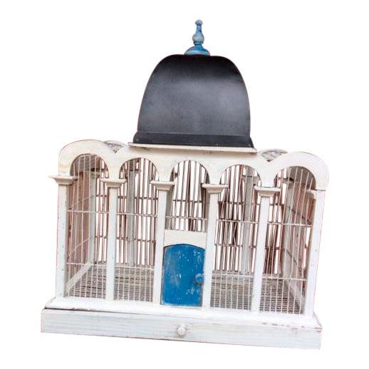 1930's Handmade Metal Birdcage For Sale