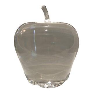 Vintage Steuben Crystal Apple Paper Weight For Sale