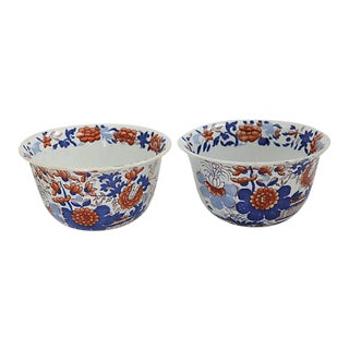 Antique Masons Ironstone Bowls - a Pair
