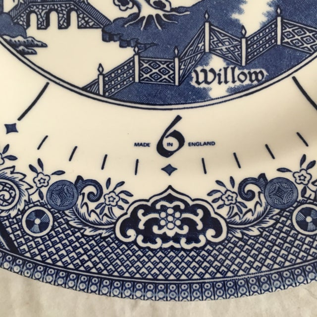 Asian Churchill England Ceramic Blue Willow Clock Plate For Sale - Image 3 of 5
