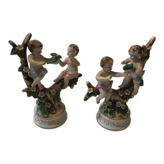 French Ceramic Figures - a Pair For Sale
