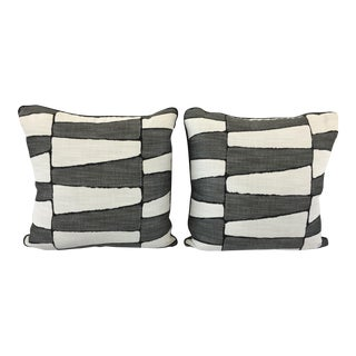 Perennials Fabric Outdoor Pillows - a Pair For Sale