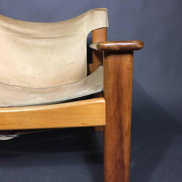 "Tan Karin Mobring ""Natura"" Leather Armchair, Sweden, 1970s For Sale - Image 8 of 10"