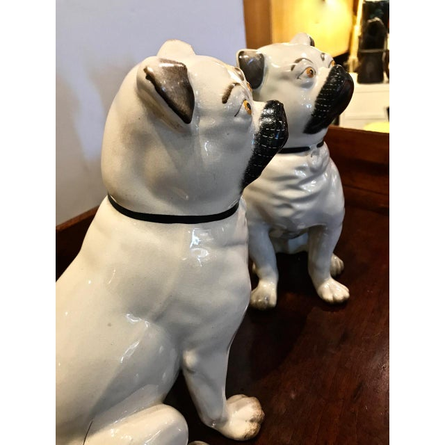 Staffordshire Pair Staffordshire 19th C. Pugs For Sale - Image 4 of 12