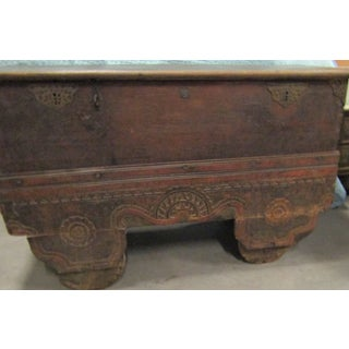 Antique Large Wooden Oriental Chest Preview