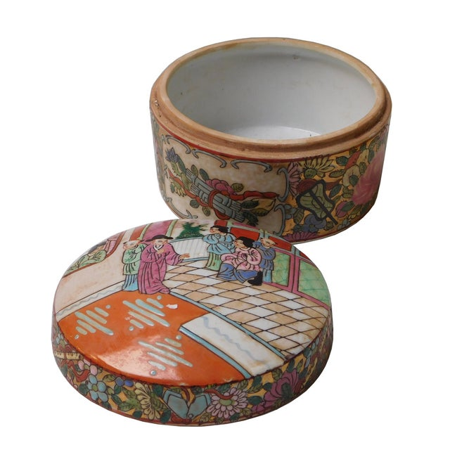 Oriental Porcelain Scenery Box - Image 4 of 6
