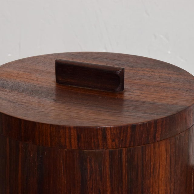 Mid-Century Modern Rosewood Ice Bucket For Sale - Image 4 of 11