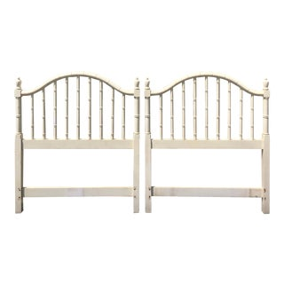 Thomasville Faux Bamboo Twin Headboards- a Pair For Sale