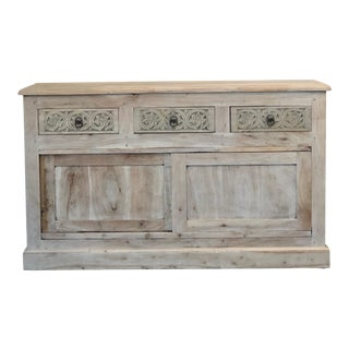 Custom Finished 2 Door and 2 Drawer Vanity/Sideboard For Sale