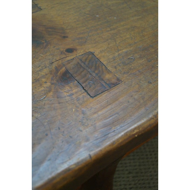 Rustic Slab Wood Coffee Table - Image 8 of 10
