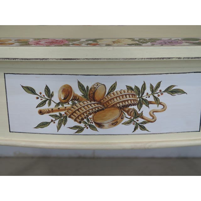Adam Style Paint Decorated Demi-lune Console Table For Sale In Philadelphia - Image 6 of 11