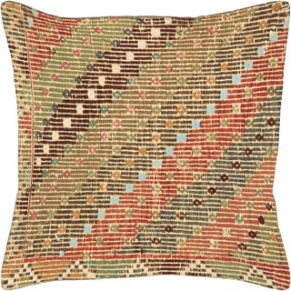 "Nalbandian - 1960s Turkish Cicim Pillow - 20"" X 20"" For Sale"