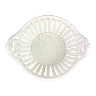 19th c. French Creamware Basket