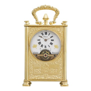 8-Day Swiss Carriage Clock For Sale
