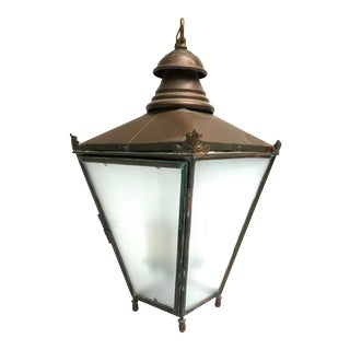 20th Century English Classical Copper Street Lamp For Sale