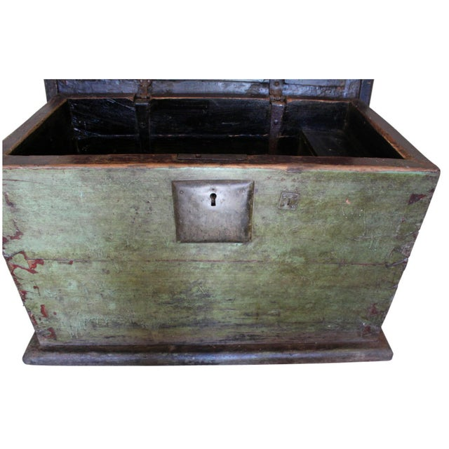 Huge 1650s Asian Trunk, Wood & Iron, Handmade Craftsmanship For Sale - Image 5 of 10