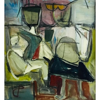 C P Figurative Abstract Painting 1970-80 #18 For Sale