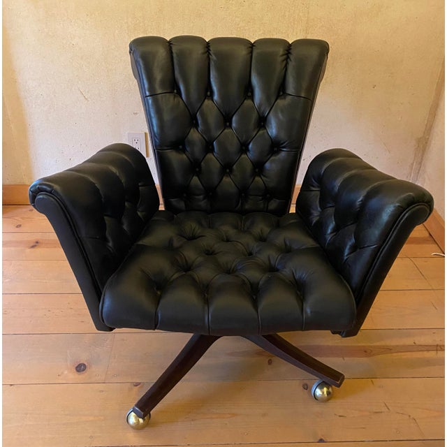 Edward Wormley Leather Desk Chair For Sale - Image 11 of 11