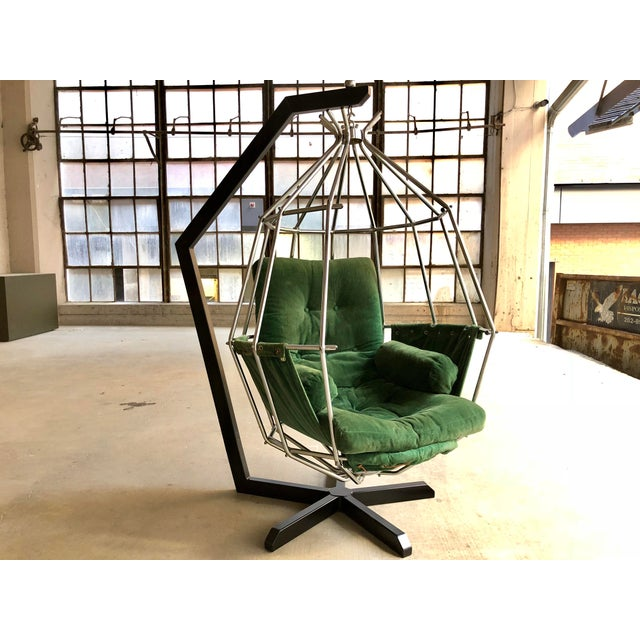 Abstract Mid Century Modern Ib Arberg Parrot Chair Hanging Birdcage Chair For Sale - Image 3 of 13
