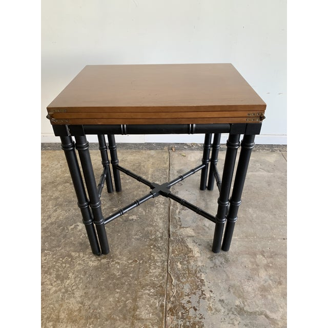 Vintage Drexel Expandable Bamboo Console For Sale - Image 13 of 13