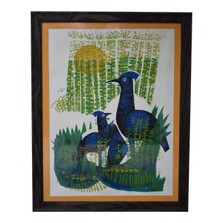 1969 David Weidman Waterbirds Signed Serigraph Print For Sale