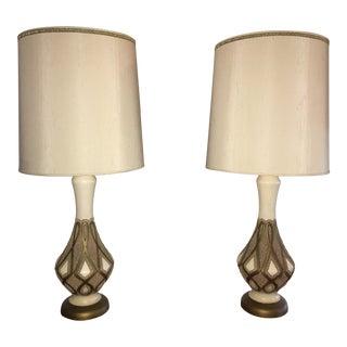 Mid-Century Quartite Corp Lamps - A Pair For Sale