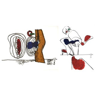Le Corbusier, Meandering Forms & Taureau Xvii, Both in 1963 For Sale
