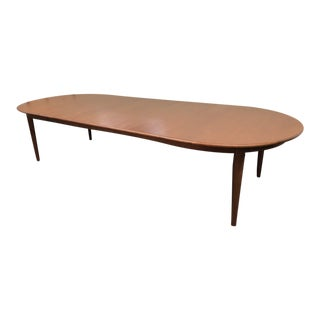 Large Solid Walnut Oval Dining Table