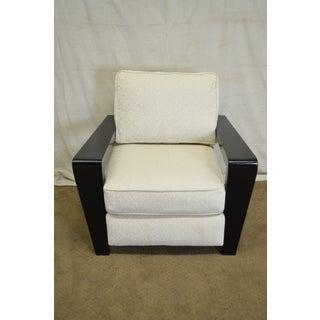 Thayer Coggin Modern Design Black & White Lounge Chair with Ottoman Preview