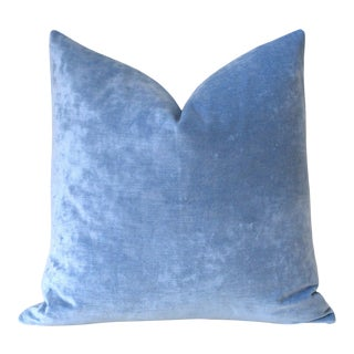 Ice Blue Velvet Pillow Cover 16x16 For Sale