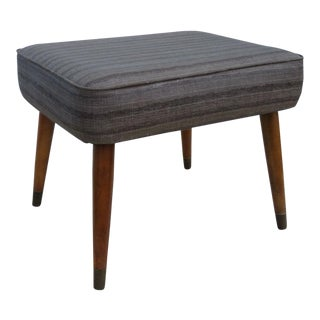Mid Century Modern Bench Ottoman Foot Stool For Sale