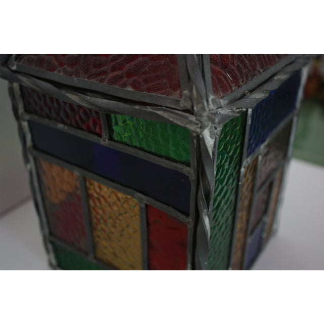 Vintage Stained Glass Pendant - Image 3 of 4
