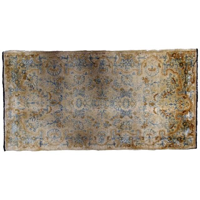 1920s, Handmade Antique Persian Kerman Rug 2.10' X 5.3' - 1b703 For Sale - Image 9 of 10