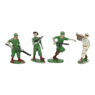 Mid-Century French Metal Soldiers - Set of 4